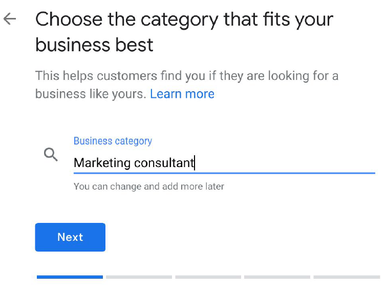 Choose The Category That Best Fits Your Business.
