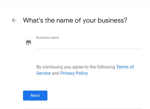 name of your business in Google Maps
