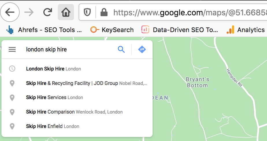 Google Maps Business Name Search